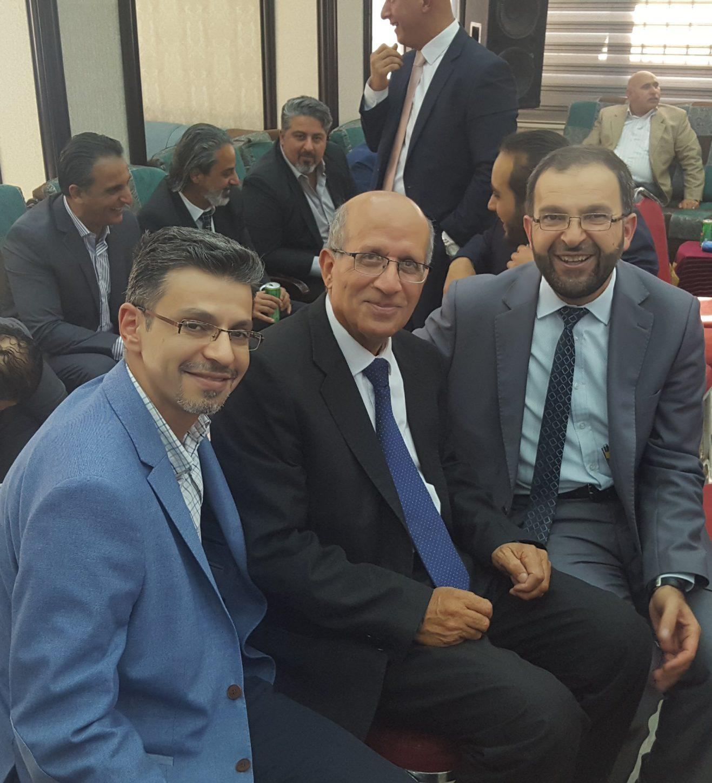 حفل عقد قرآن الدكتورة اسيل ابنة أخي وزميلي وحبيبي د. يوسف العجلوني في ( 29-7-2019 )