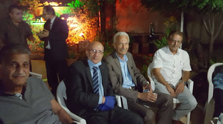 عزومة  الدكتور حيدر المدني المحترم  وفي منزله العامر اقيم حفل عشاء عمل لممثلين عن عده (لجان نقابيه تابعه لنقابه الاطباء):السبت 22—8 – 2020
