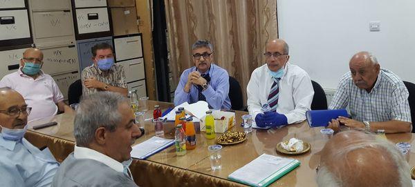 اجتماع بخصوص تنفيذ نظام الصندوق التعاوني للأطباء  الاحد 6 – سبتمبر -2020