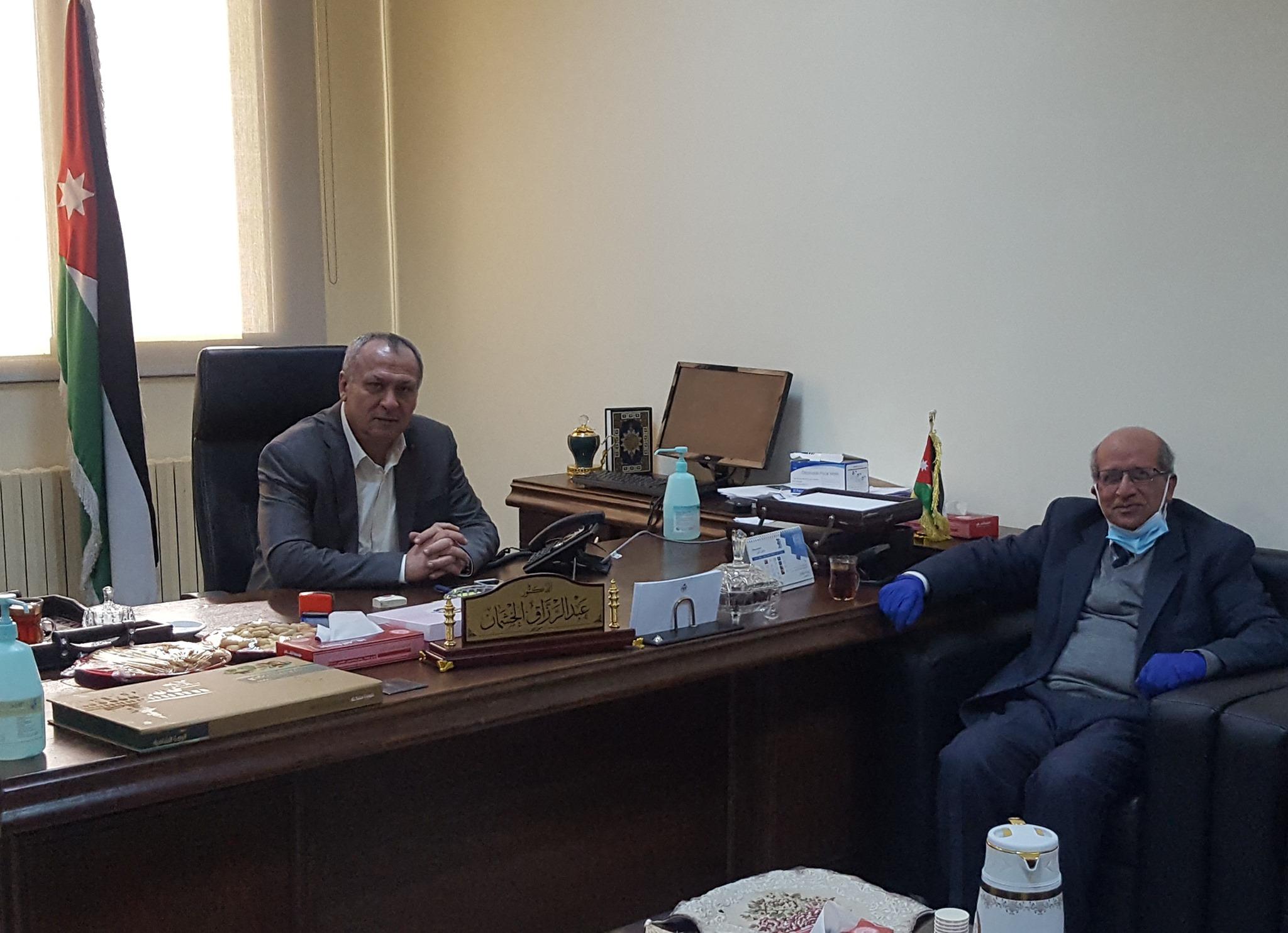 زياره الى مستشفى الحسين السلط الجديد الاربعاء (6 – يناير – 2021 )