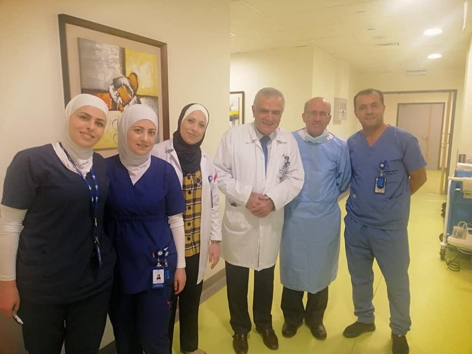 زيارة  سعادة مدير عام مستشفى الاستشاري د. موسى صالح  المحترم  الى قسم التنظير صباح يوم الاثنين 25 نوفمبر – 2019