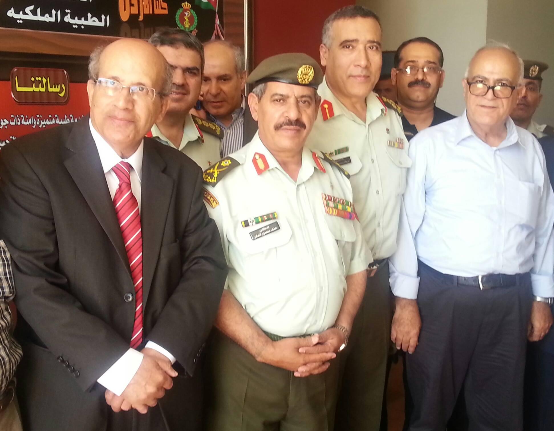 زياره مدينة الحسين الطبية : للإطمئنان على  وضع  جرحى العدوان الصهيوني على غزه   صباح يوم الأربعاء 30–7–2014