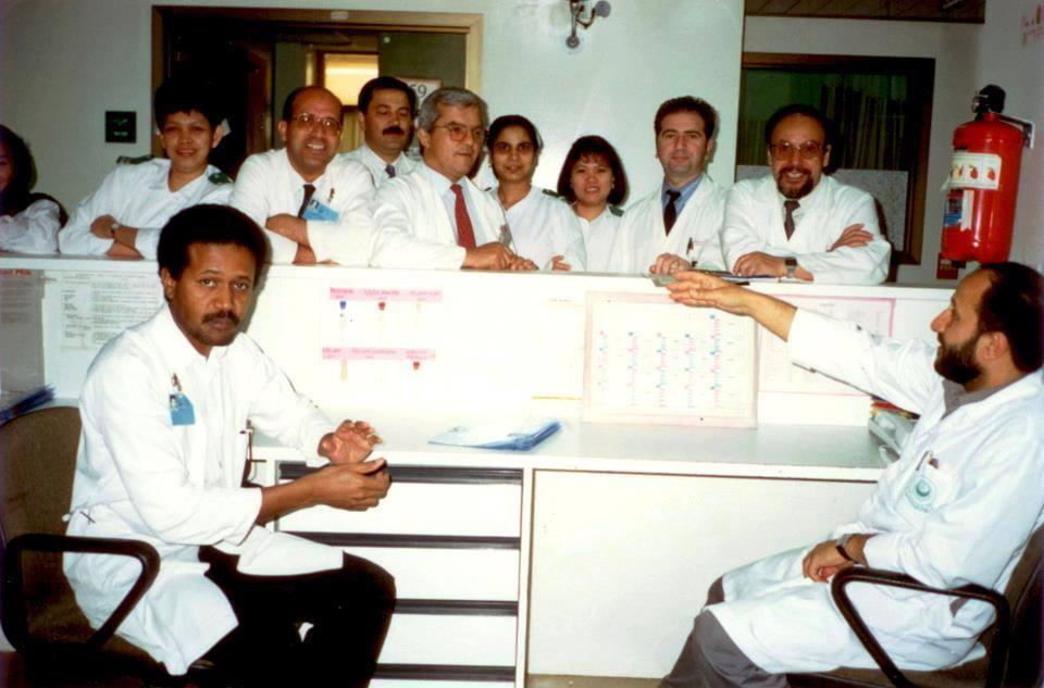 من الذاكره : صوره عام ( 1989 ميلادي ) في مستشفى الملك خالد _السعوديه
