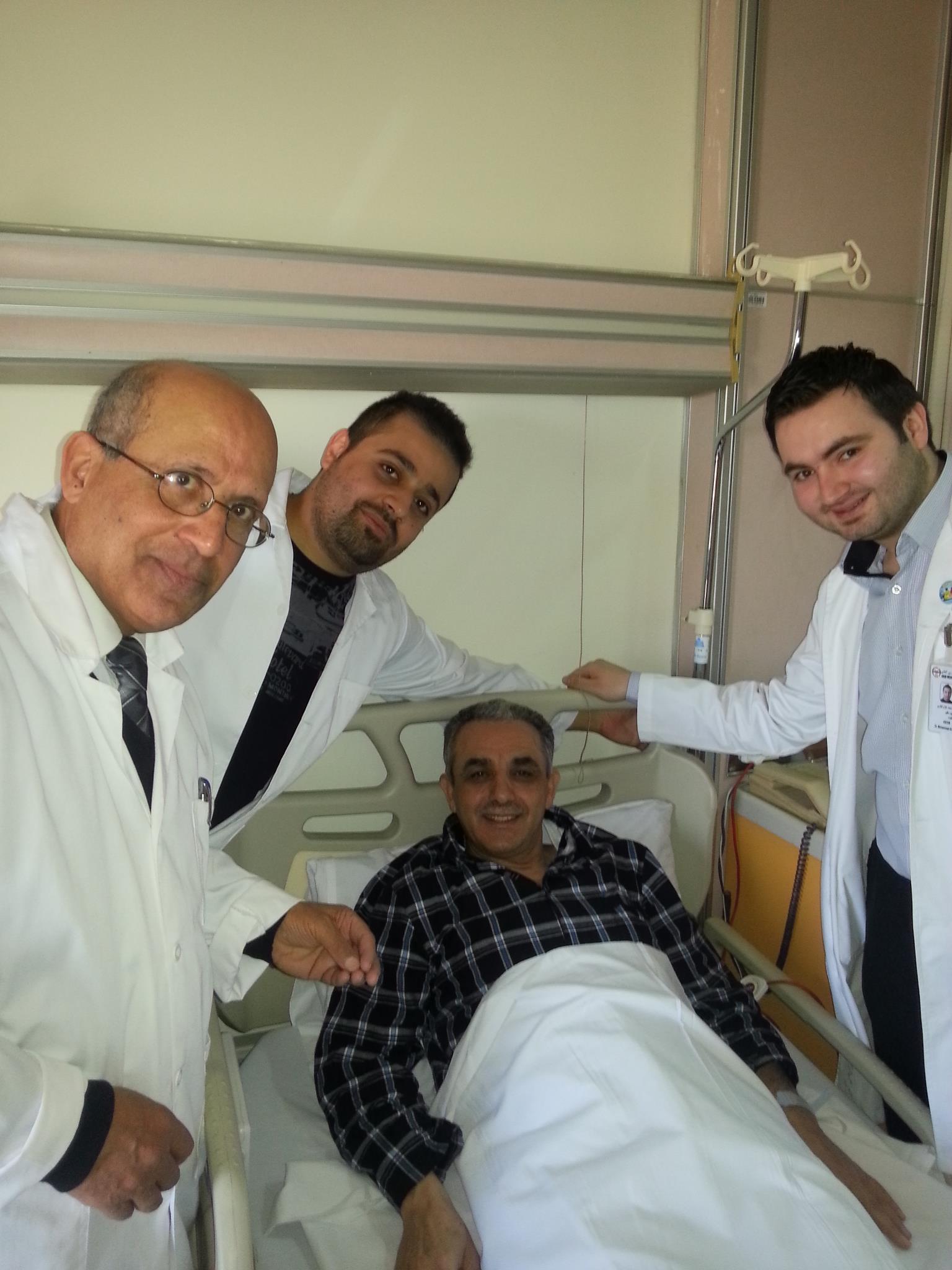 ألف الحمدلله على السلامه دكتور علي السعد    24–1–2013