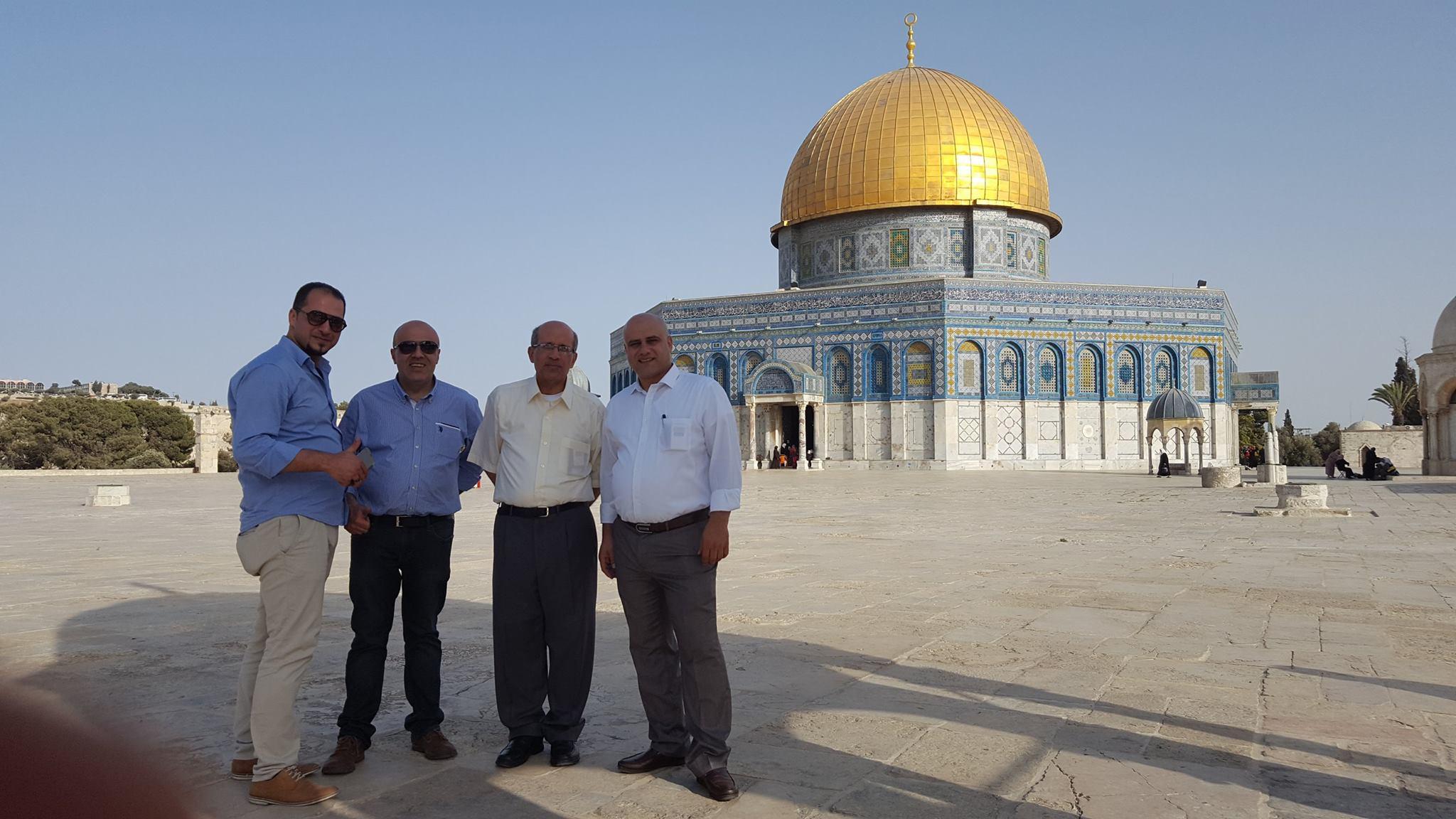 جوله في المسجد الاقصى في القدس الشريف  عصر يوم الخميس 13-7- 2017