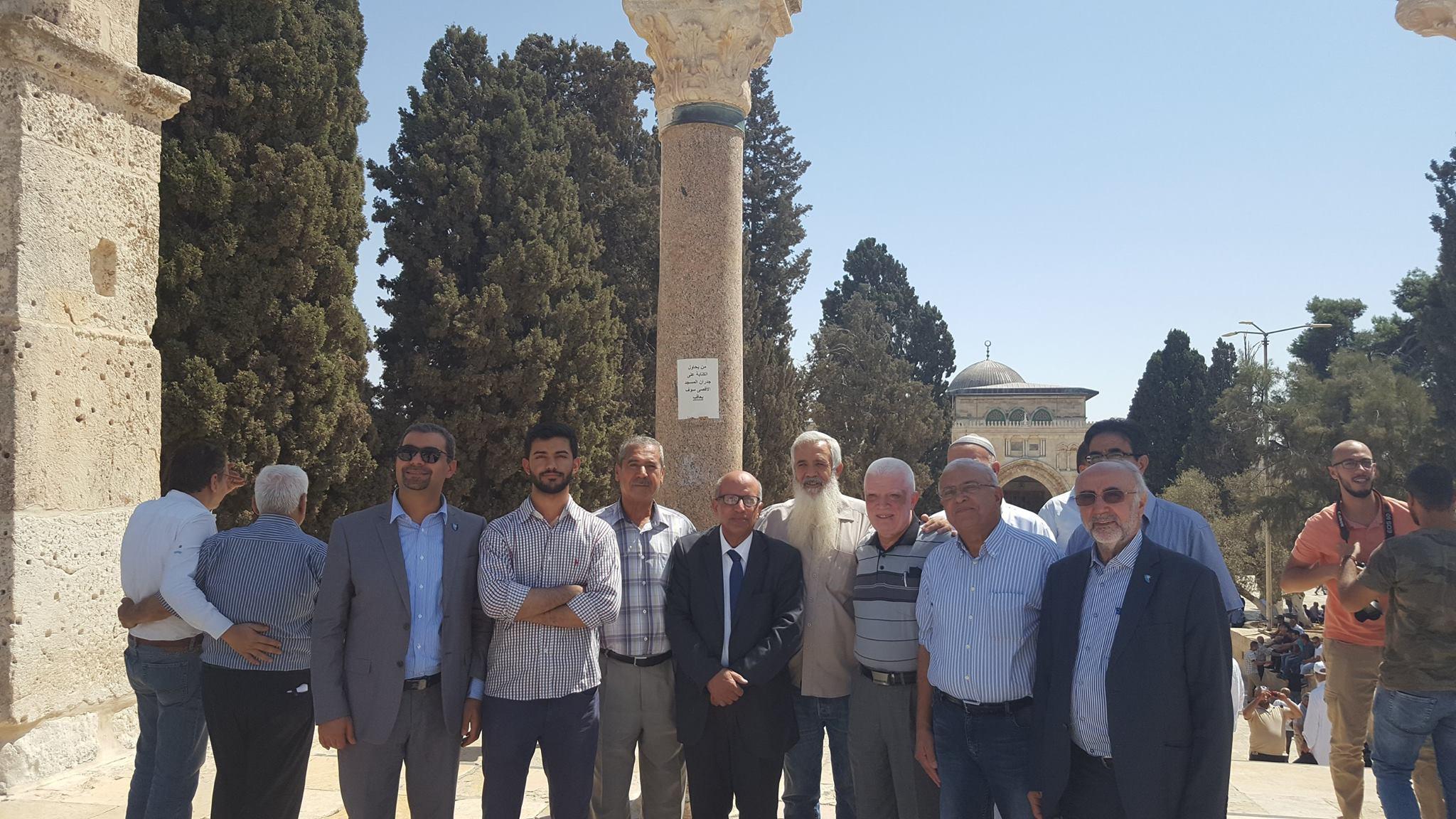 جوله في شوارع القدس القديمه وفي باحات المسجد الاقصى المبارك التاسع من  سبتمبر 2017