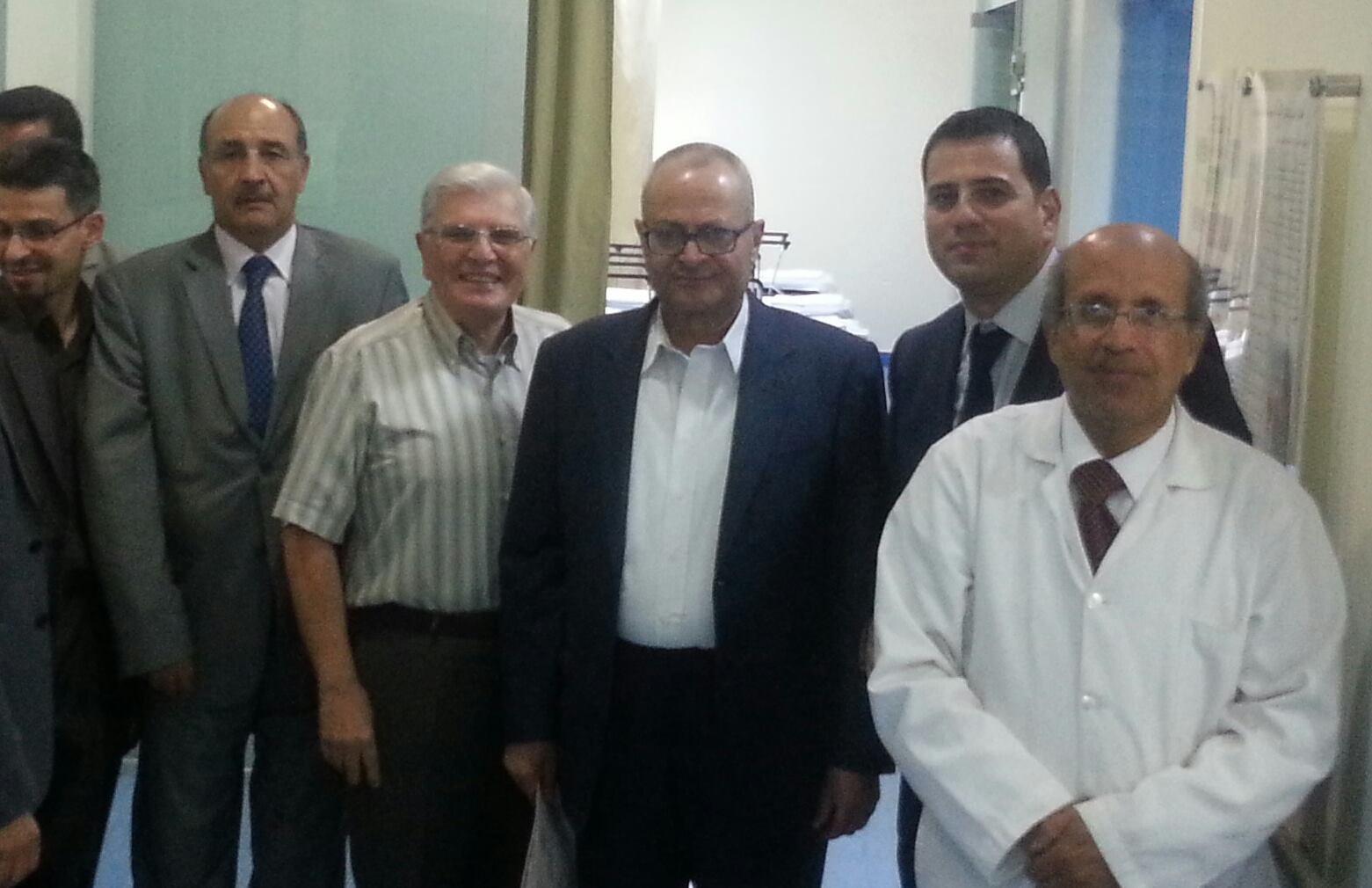 برفقة زملاء اعزاء في قسم التنظير بالمركز العربي الطبي  يوم السبت 16–8–2014