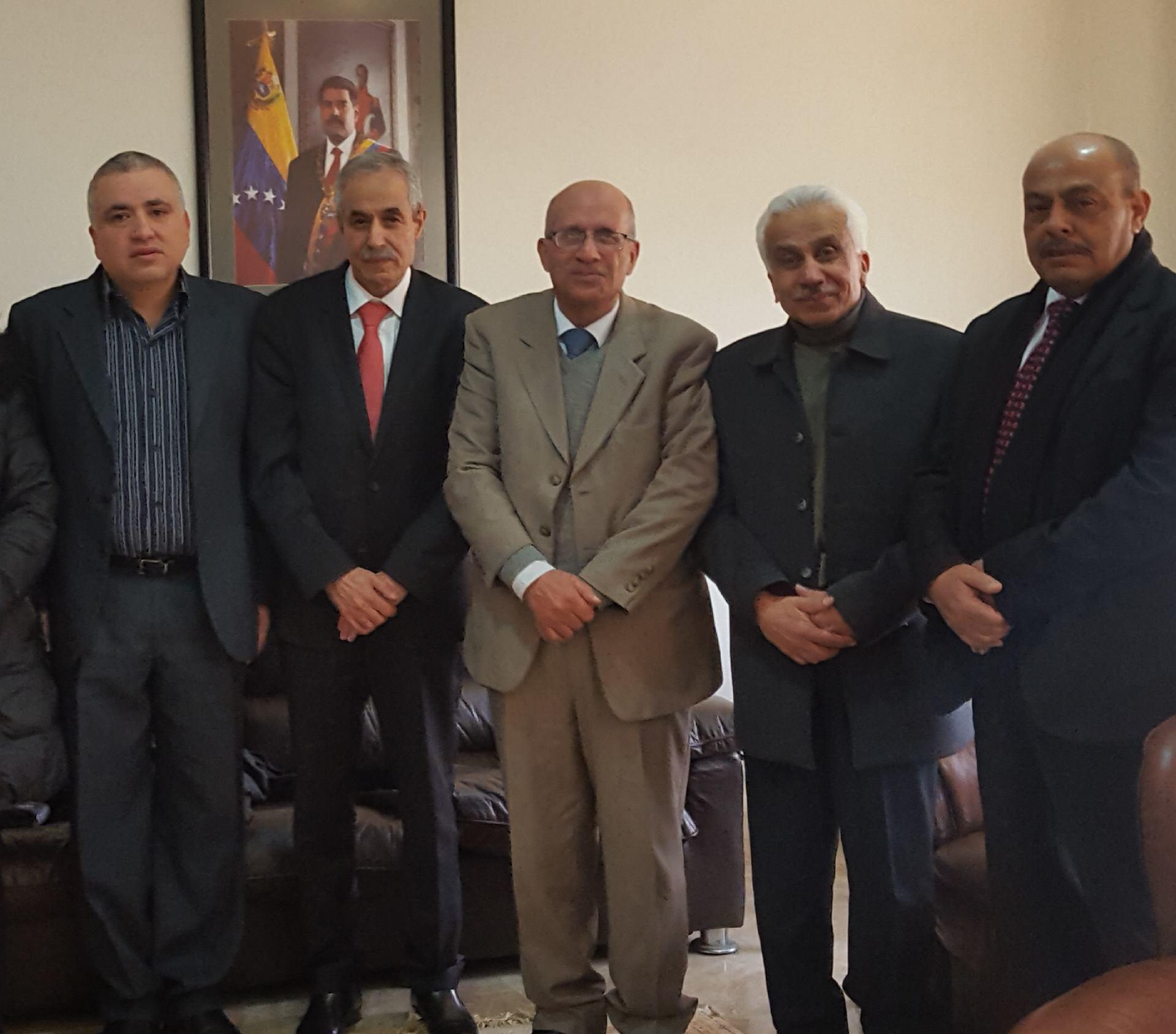 زيارة تضامنية مع القيادة والشعب الفنزويلي الصديق الثلاثاء 29–1–2019.